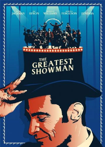 2010's Movie - THE GREATEST SHOWMAN - MINIMAL ART canvas print - self adhesive poster - photo print